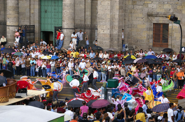 Independence day festivities in Mexico
