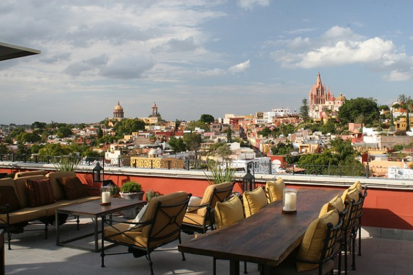 The Luna Roof Top Bar in Mexico