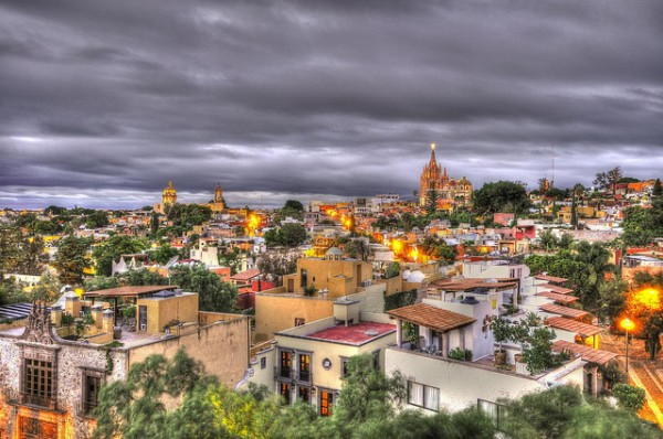 View from the Luna Roof Top Bar in San Miguel de Allende