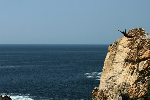 La Quebrada Cliff Diver in Mexico