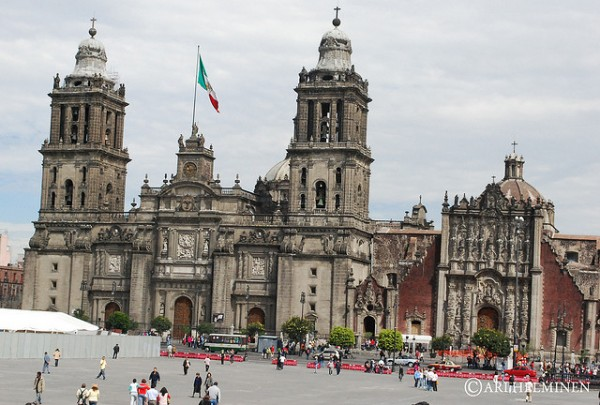 Metropolitan Cathedral in the Historic Center of Mexico City