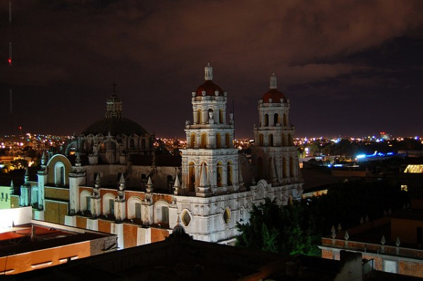 The colonial city of Puebla in Mexico