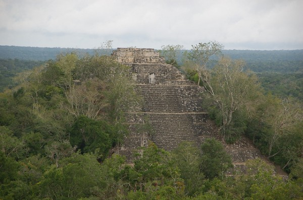 The archeological site of Calakmul in Mexico