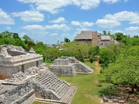 The archeological site of Ek' Balam in Mexico