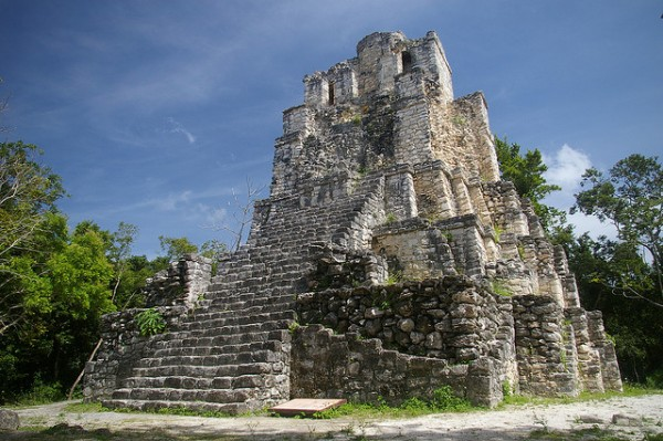 The archeological site of Muyil in Mexico