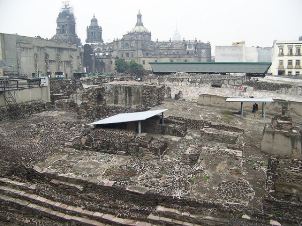 The archeological site of Tenochtitlan