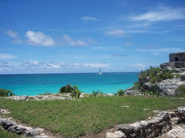 The archeological site of Tulum in Mexico