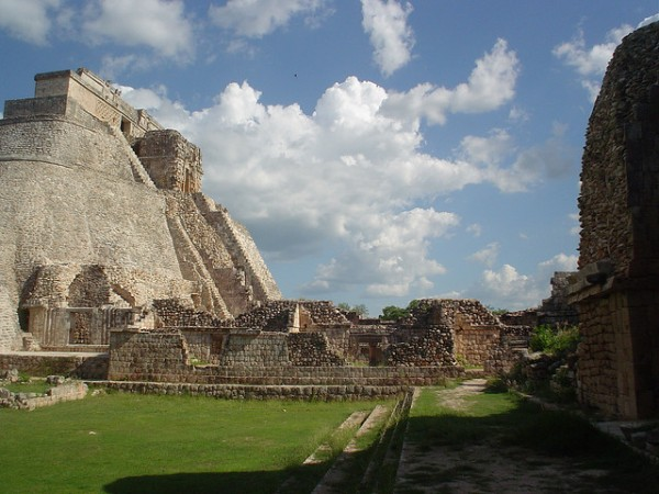 The archeological site of Uxmal in Mexico