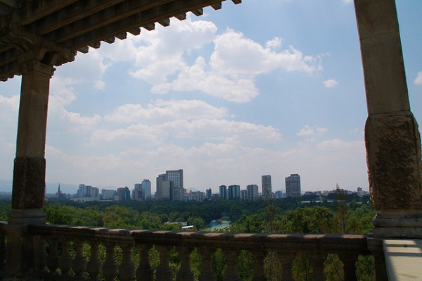 View of Mexico City from the castle