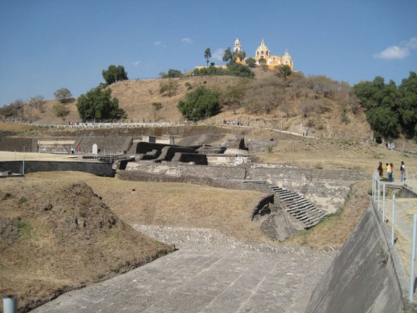 Archeological site in Cholula