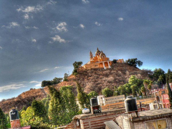 The city of Cholula in Mexico