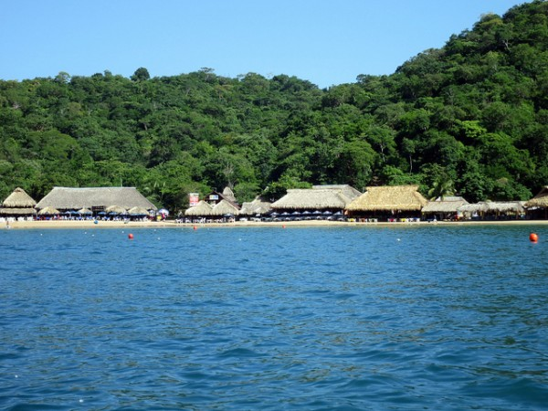 The coast of Bahias de Huatulco