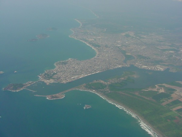 The city of Mazatlan from air