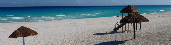 View of the Cancun beach