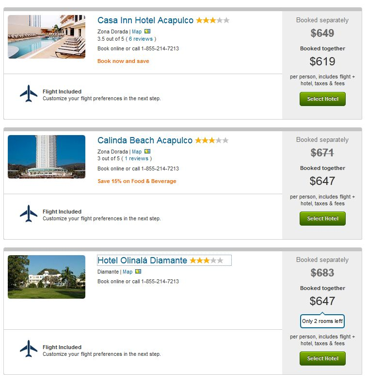 Acapulco vacations in May under $650